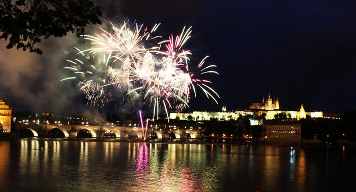 Le feux d'artifice jour de l an prague