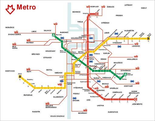Plan du métro de Prague, Information Prague | Informations sur